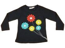 Lányka hosszú ujjú póló Virágcsokor (TUR)