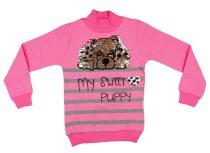 Lányka átsimítós flitteres pulóver Kutya (TUR)