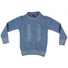 Fiú kereknyakú kötött pulóver Champ hímzéssel (TUR)