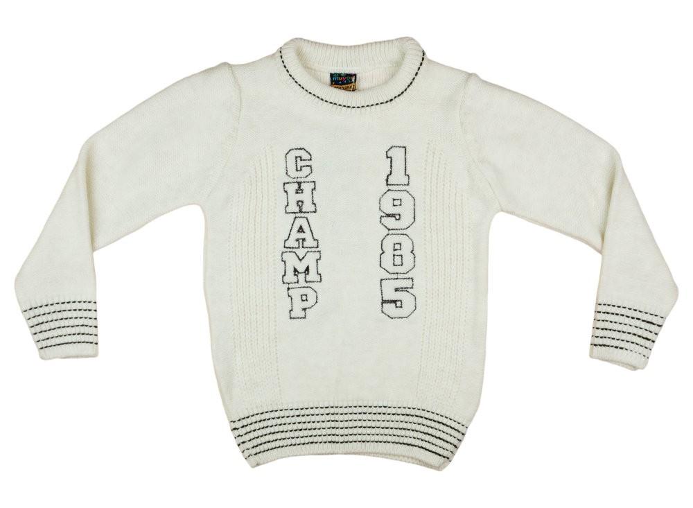 Fiú kereknyakú kötött pulóver Champ hímzéssel (TUR) e77c000ea9