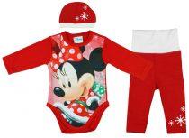 Disney Minnie 3 részes (sapka+nadrág+body) szett