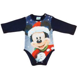 Disney Mickey Mikulás mintás hosszú ujjú kombidres