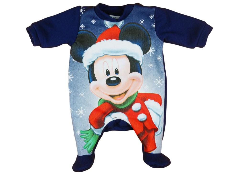 cb3855ecdb Disney Mickey Mikulás belül bolyhos hosszú ujjú rugdalózó Karácsony