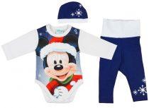 Disney Mickey 3 részes (sapka+nadrág+body) szett K