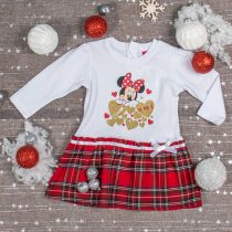 Disney Minnie alul kockás, hosszú ujjú lányka ruha