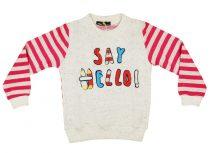 Lányka csíkos ujjú pulóver Say Hello (TUR)
