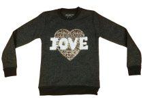 Lányka csillámos pulóver Love (TUR)