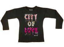 Lányka hosszú ujjú póló City of Love (TUR)