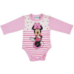 Disney Minnie szíves, csíkos, hosszú ujjú kombidressz