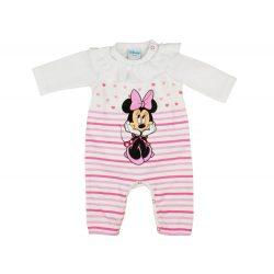 Disney Minnie szíves, csíkos, 2 részes rugdalózó/body szett