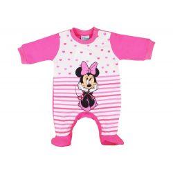 Disney Minnie hosszú ujjú lányka rugdalózó szíves,