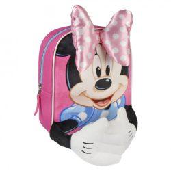 Disney Minnie plüss mintás hátizsák masnival, keze