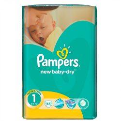 Pampers New Baby-Dry Pelenka 1 Newborn - 43 db