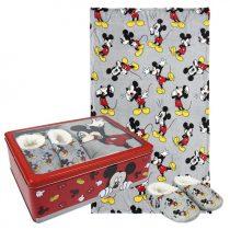 Disney Mickey fémdobozos takaró+mamusz szett