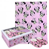 Disney Minnie fémdobozos takaró+mamusz szett