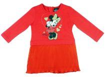 Disney Minnie hosszú ujjú lányka ruha pliszírozott
