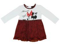 Disney Minnie hosszú ujjú lányka ruha csillogós mu