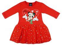 Disney Minnie hosszú ujjú ruha piros muszlinnal Ka