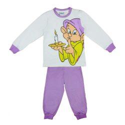 Disney lila-fehér kislány pamut pizsama