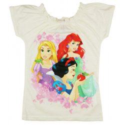 Disney Princess/hercegnők gumis nyakú rövid ujjú póló