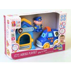 BamBam Készségfejlesztő játék - zenélő rendőr örs