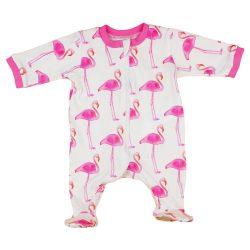 Flamingo mintas lányka cipzáras rugdalózó 56-os