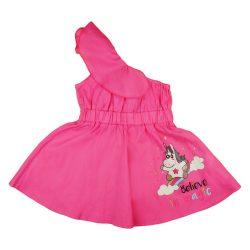 Unikornis mintás kislány félvállú nyári ruha