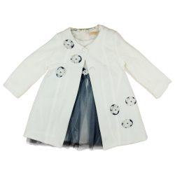 Alkalmi lányka ruha tüllel és kabátkával (TUR)