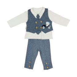 Kisfiú baba alkalmi mellényes szett (TUR)