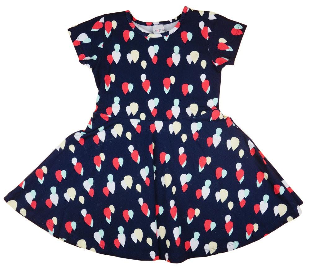 6fd0040de2 Lányka rövid ujjú nyári ruha színes cseppekkel (TUR)