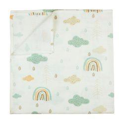 Textil tetra pelenka 75x75 cm - erdő mintás