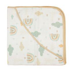 Erdő mintás tetra textil kapucnis baba törölköző