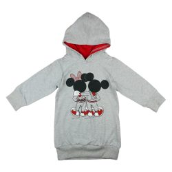Disney Mickey-Minnie kapucnis tunikás lányka pulóver