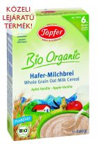 Töpfer Bio organic Probifido teljes kiőrlésű zabdara tejpép - Alma-vanília ízű - 200 g