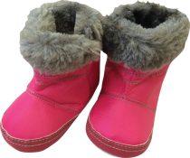 Bubaba szőrmés cipő - Sötét rózsaszín