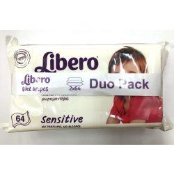 Libero törlőkendő Duopack 2x64 db - Sensitive