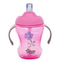 Tommee Tippee Explora easy drink straw - szívószálas itatópohár 6+ (230 ml) - Rózsaszín