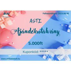 Asti ajándékutalvány - Babaváró 5.000 Ft értékű