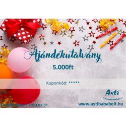 Asti ajándékutalvány - Szülinapra 5.000 Ft értékű