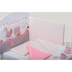 Bubaba 3 részes ágynemű szett - Rózsaszín nyuszi