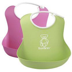 BabyBjörn Lágy Előke 2 darab - Zöld/pink