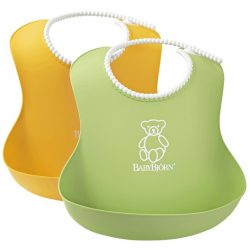 BabyBjörn Lágy Előke 2 darab - Zöld/sárga