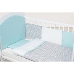 Bubaba 10 részes ágynemű szett - Kék/szürke cik-ca
