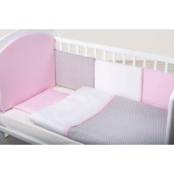 Bubaba 10 részes ágynemű szett - Rózsaszín/szürke