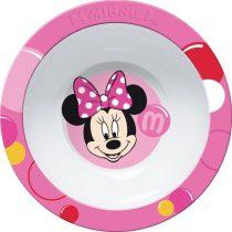 Minnie műanyag mély tányér