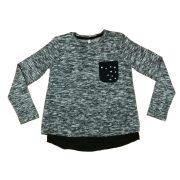 Losan lányka kötött pulóver fekete betéttel fe86e4f026