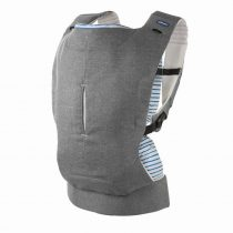 Chicco Myamaki Complete pólyás hordozó és hátihordó - Grey Stripes