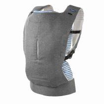 Chicco Myamaki Complete pólyás hordozó és háti hordó - Grey Stripes