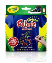 Crayola - Textilfestő filctoll 8 db