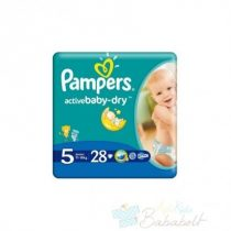 Pampers Active Baby-Dry Pelenka 5 Junior - 28 db
